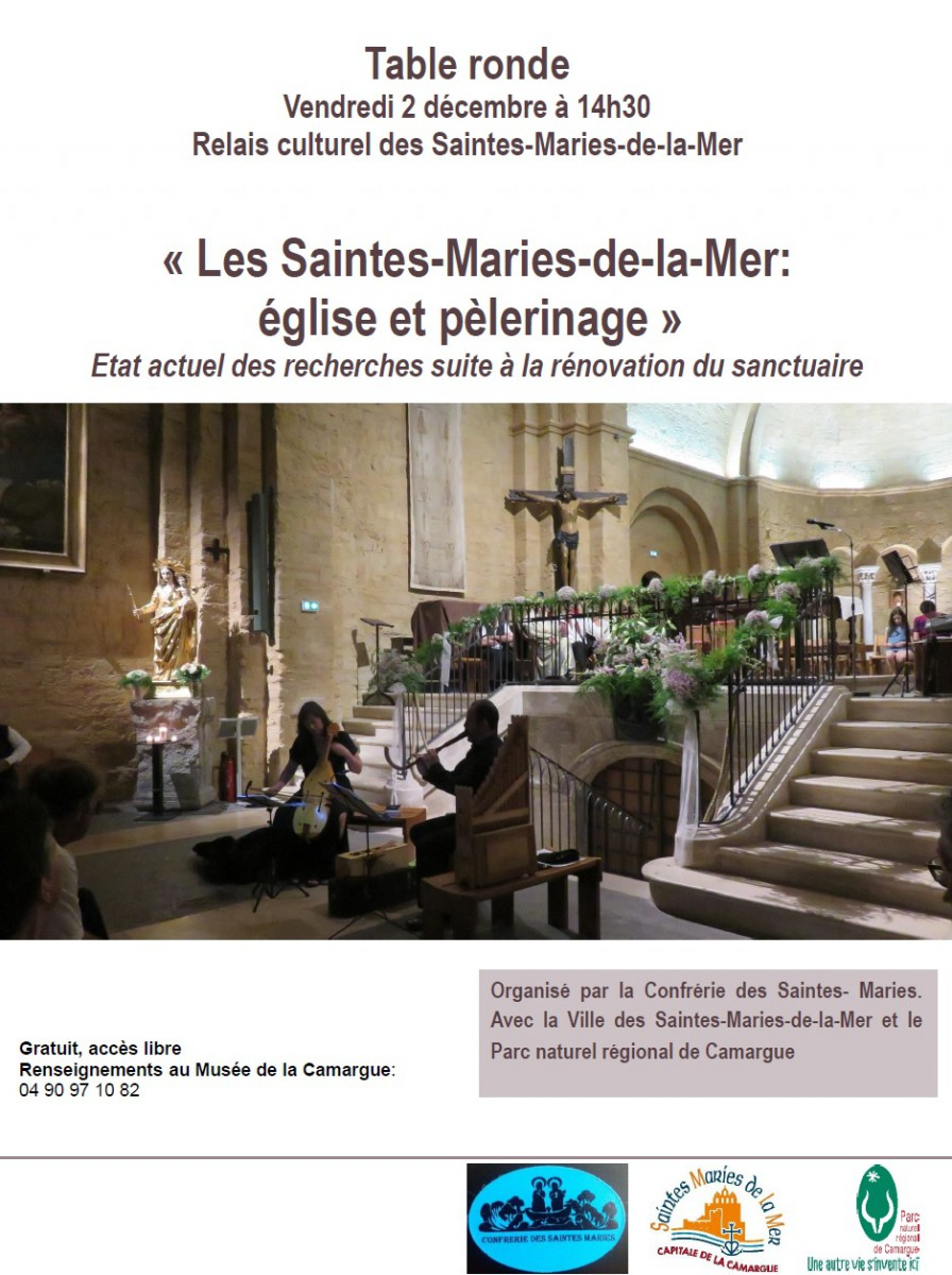 Table ronde eglise et p lerinage saintes maries de la mer - Office du tourisme sainte marie de la mer ...